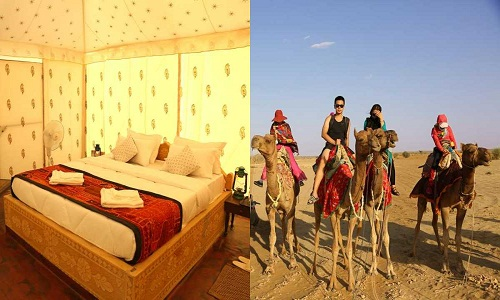 camel safari with camp stay