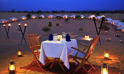 dinner at jaisalmer